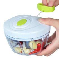 Processador Triturador Manual De Alimentos 3 Lâminas Cozinha - Hypem