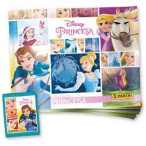 Produtos panini princesas album c/12 envelopes kit -