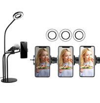 Profissional Live stream Hing Ligth Suporte Microfone E Celular Gravação Videos Fotos Selfie 3 em 1 - Xtrad