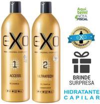 Progressiva Exoplastia Capilar Exo Hair 2 x 1000ml + brinde -