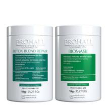 Prohall Máscara Biomask Ultra Hidratante 1kg + Bbtox Blend Repair 1kg -