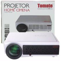 Projetor De Led Full HD Home Cinema 1080p Datashow 3000 Lumens  USB Até 120 Tomate Mpr-2002