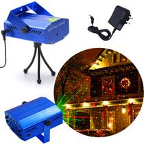 Projetor Laser Holográfico Luzes Mini Decoração De Natal Festas Balada Iluminação 09 Bivolt - Lx