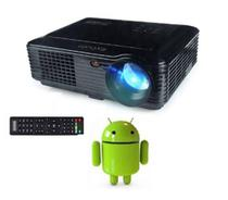 Projetor multimidia Exbom Profissional Android wifi 2600 Lumens Led PJ-v200 Preto -