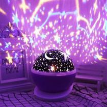 Projetor Star Master Céu Estrelado 360º Lilás Decoração - Top Total