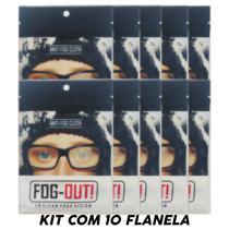 *promo* Kit 10 Flanela Antiembaçante Óculos, Viseira - Fog-Out