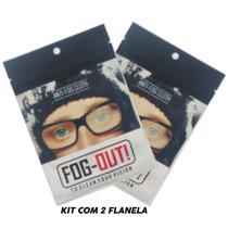 *promo* Kit 2 Flanela Antiembaçante Óculos, Viseira - Fog-Out