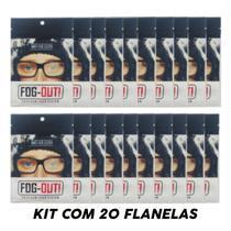 *promo* Kit 20 Flanela Antiembaçante Óculos, Viseira - Fog-Out