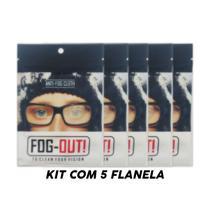 *promo* Kit 5 Flanela Antiembaçante Óculos, Viseira - Fog-Out
