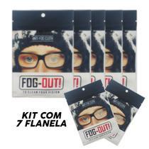 *promo* Kit 7 Flanela Antiembaçante Óculos, Viseira - Fog-Out