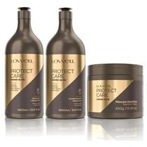Protect Care Power Nutri Shampoo + Condicionador 1 Litro + Máscara 450g - Lowell -