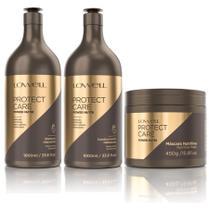 Protect Care Power Nutri Shampoo + Condicionador 1 Litro + Máscara 450g - Lowell