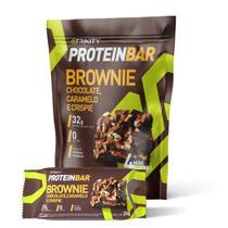 Protein bar brownie chocolate, caramelo e crispie - Trinity Suplementos