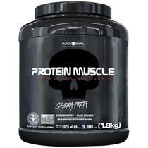 Protein muscle black skull - 1,8kg (blend proteínas) - Caveira Preta