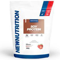 Proteína Isolada da Soja Morango 900g NewNutrition -