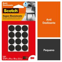 Protetor Antideslizante Redondo Preto Pequeno 12 unidades 3M Scotch -