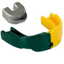 Protetor Bucal Dual Color Profissional Prottector Verde e Amarelo -