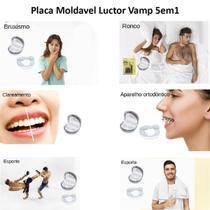 Protetor Bucal Duplo Articulado Moldável Luctor Vamp 5em1 Original Top -