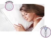 Protetor Capa De Travesseiro Impermeável Antiácaro Com Zíper - Plastleo