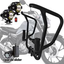 Protetor Carenagem Motor Titan 160 Com Pedaleira E Farol Led - Master