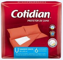 Protetor De Cama Cotidian-tamanho Unico- 80x60cm-6 Unidades -
