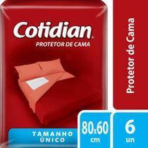 Protetor De Cama Descartavel Cotidian Com 6 Unidades -
