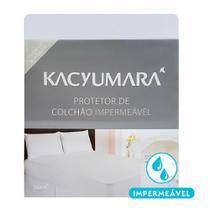 Protetor de Colchão Impermeável Queen Size Kacyumara Algodão Branco -