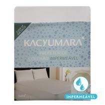 Protetor de Colchão Impermeável Solteiro King Kacyumara Branco -