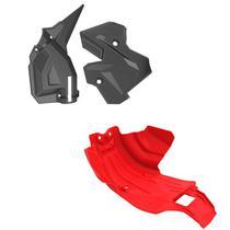 Protetor De Motor E Quadro Anker Crf250f VERM/PRETO -