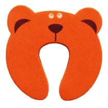 Protetor De Porta Infantil Bebê Trava Dedos Urso Laranja - Clink