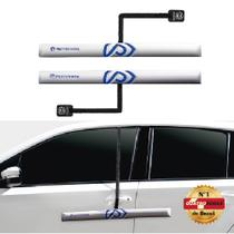 Protetor de Porta para Carro com Imã - 2 peças Prata - Proteporta