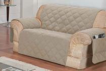 Protetor de sofá 3 lugares face unico confort castor - R&A DECORA CASA