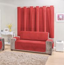 Protetor de sofá 4 lugares Vermelho rustic decor - R&A Decora Casa