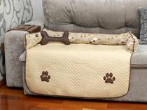 Protetor de Sofá Pet Impermeavel Meg Grande Avelã - Enxovais M&D