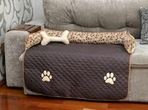 Protetor de Sofá Pet Impermeavel Meg Grande Marrom - Enxovais M&D