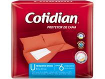 Protetor Descartável de Colchão Cotidian - Protetor de Cama 6 Unidades