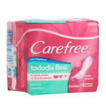 Protetor Diário Carefree Todo Dia Flexi sem Perfume 15 Unidades -