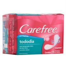 Protetor Diário Carefree Todo Dia sem Perfume c/ 15 unidades -