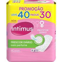Protetor Diário Frescor Diário Perfumado Leve 40 Pague 30 UN Intimus - Kimberly-Clark