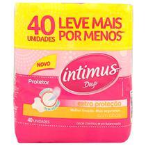 Protetor Diário  Intimus Days com Abas 40 Unidades -