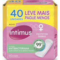Protetor Diario Tecnologia Antibacteriana Leve Mais Pague Menos 40 UN Intimus -