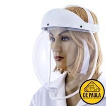 Protetor facial visor transparente bolha branco médicos enfermeiros - Silominas