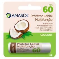 Protetor Hidratante Labial Coconut FPS60 Anasol -