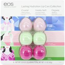 Protetor Labial Eos Lip Balm Kit Com 6 - 100% Natural -