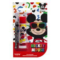 Protetor Labial Infantil View Cosméticos Mickey Mouse FPS 30 5g -