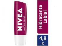 Protetor Labial Nivea Hidratação Com Cor Amora Shine 4,8g 24H Pigmentos Brilhantes Todas as Peles -