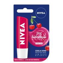 Protetor Labial Nivea Lip Care Cereja Shine 4,8g -