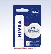 Protetor Labial Nivea Lip Care Med Reapair FPS 15  4,8gr -