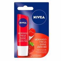 Protetor Labial Nivea Morango Shine 4,8g -