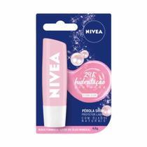 Protetor Labial Nivea Pérola Shine - Hidratação Profunda 4,8g -